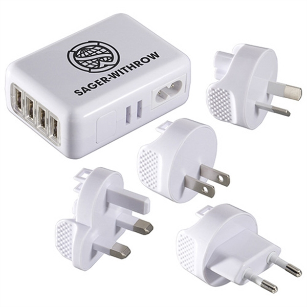 World Traveler - 4 USB Port Universal Travel Adapt