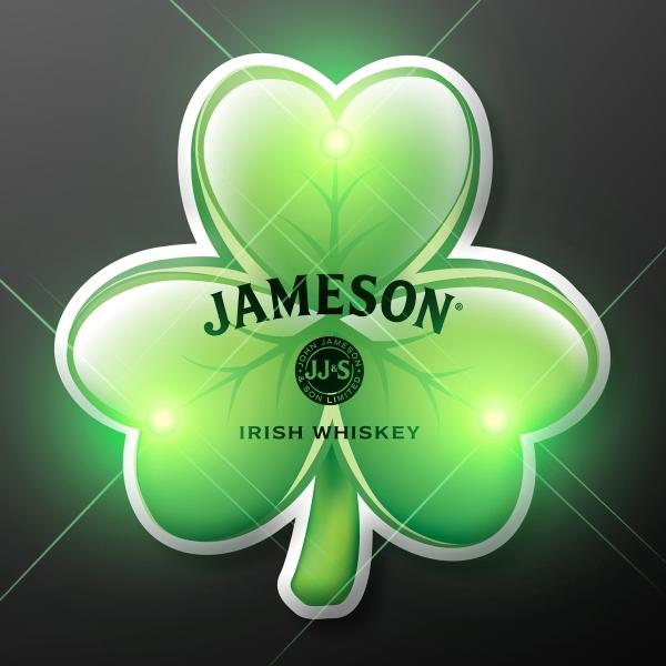 Irish Shamrock Blinky LED Lapel Pins