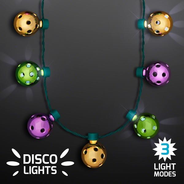 Disco Light Mardi Gras Party Necklaces