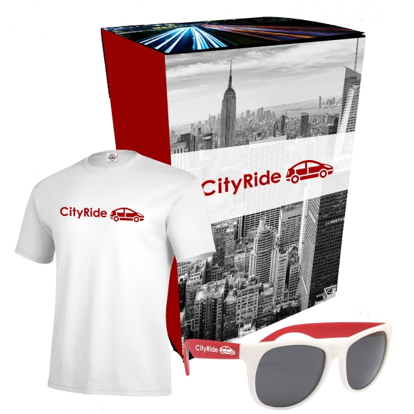 Delta (R) T-Shirt And Sunglasses Combo Set With Custom Box
