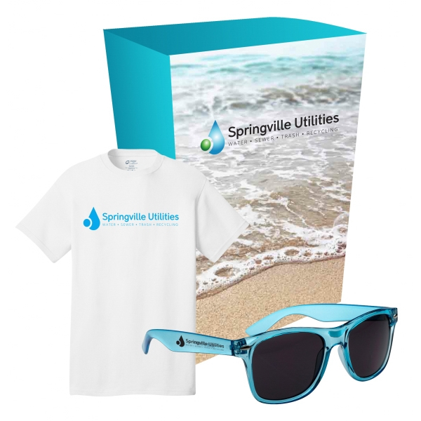 Port & Company (R) - Tee & Sunglasses Combo With Custom Box