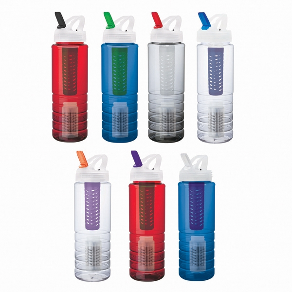 26 oz. PET Bottle With Flip Spout, Infuser & Filter