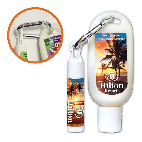 Lip Balm + Sunscreen with Carabiner