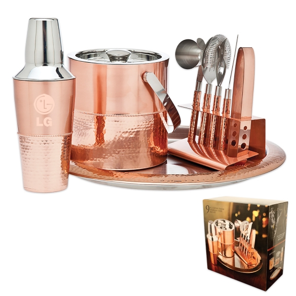 Godinger (R) 9pc. Copper Bar Set