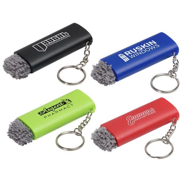 Brush-Off LED Light Key Chain