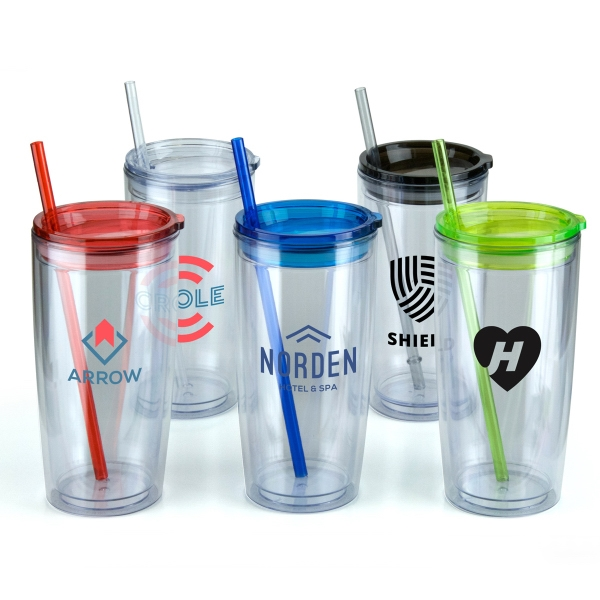 20 oz. Double Wall Plastic Tumbler With