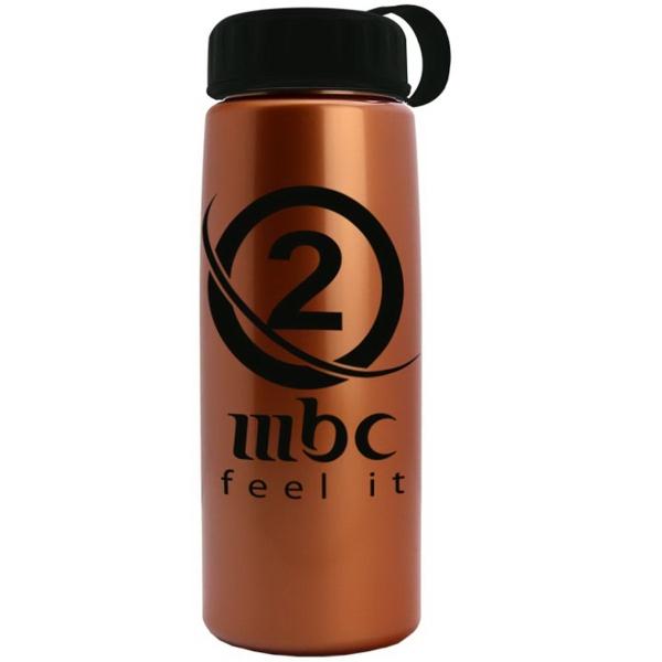 26 oz Metallic Tritan Bottle with Tethered lid