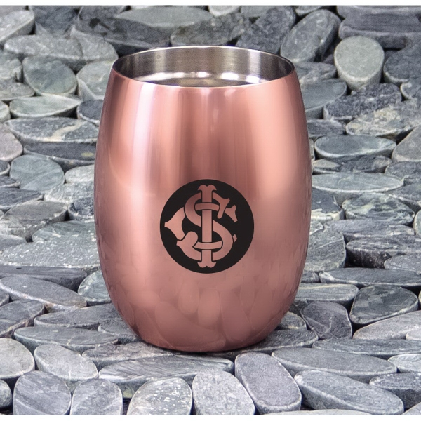 Copper Stemless Wine Glass