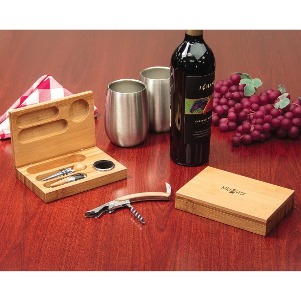 Bamboo Wine Tool Set