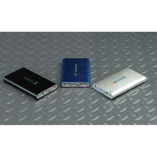 Slim Metal Dual USB Power Bank