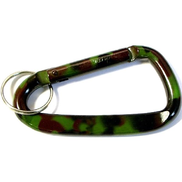 Camouflage Carabiner with Key Ring