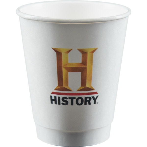 8 oz Insulated Paper Cup - White - Digital