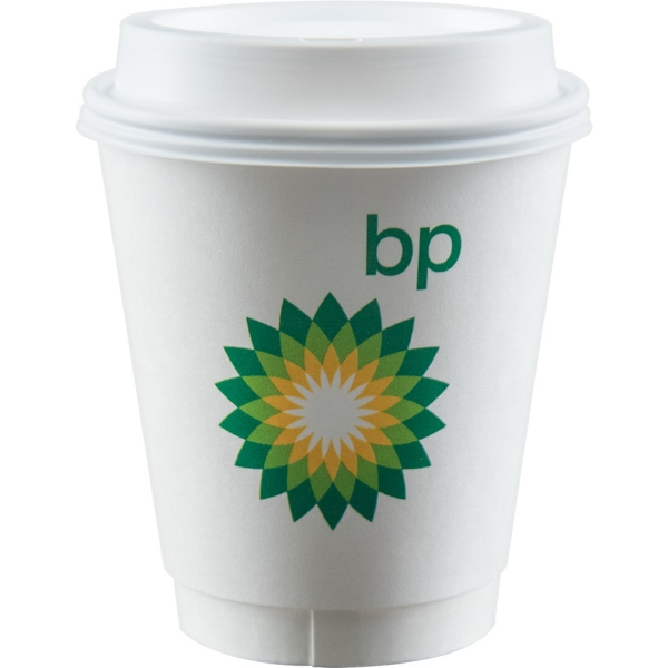 12 oz Insulated Paper Cup - White - Digital