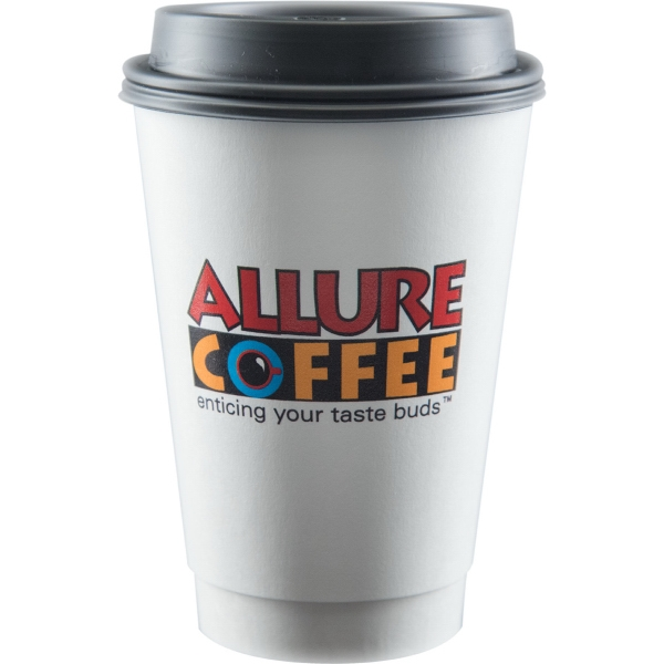 16 oz Insulated Paper Cup - White - Digital