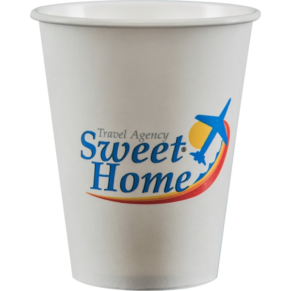 8 oz Paper Cup - White - Digital