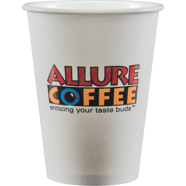 12 oz Paper Cup - White - Digital