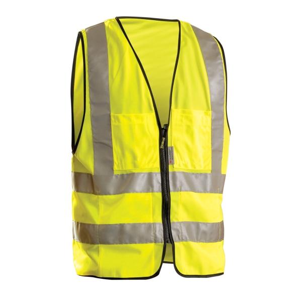 Solid Dual Stripe Surveyor Vest w/Zipper