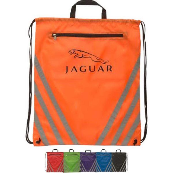 Twilight Large Reflective Drawstring Backpack