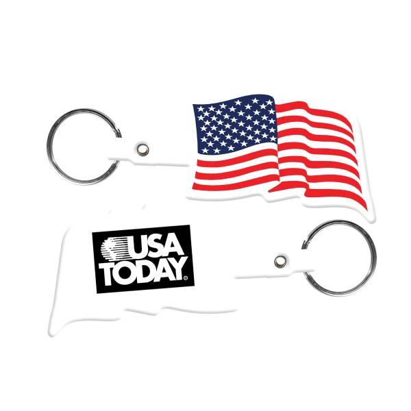 U.S. Flag Flexible Key Tag