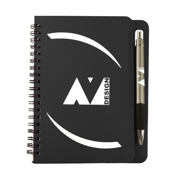 "5"" x 7"" Huntington Notebook with Pen"