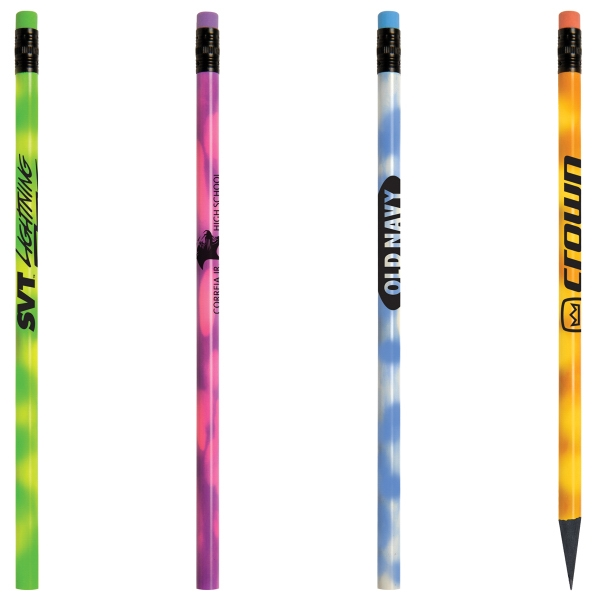 Recycled Mood Pencil with Matching Eraser - Round, recycled mood pencil with matching eraser.