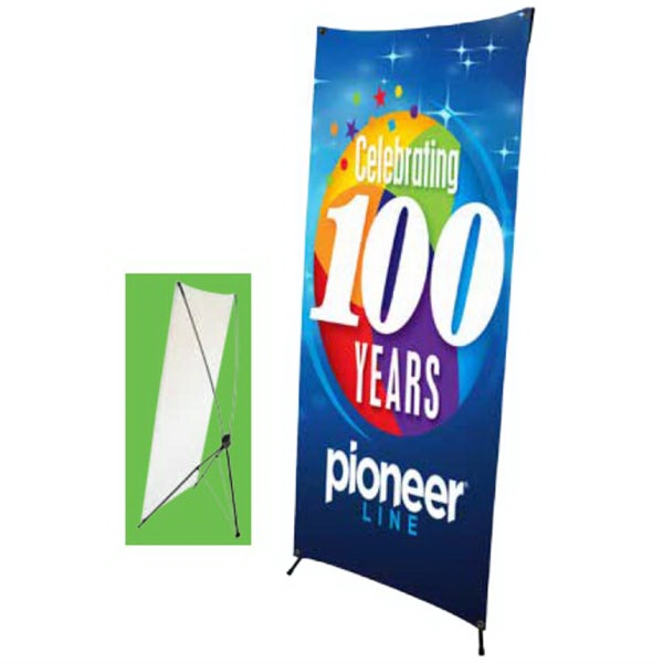 2'W x 5.25'H X-Banner Stand Kit