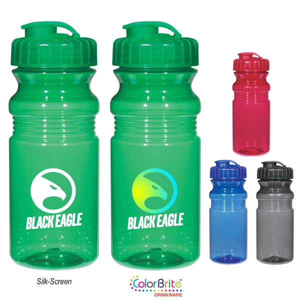 Poly-Clear (TM) 20 Oz. Fitness Bottle With Super Sipper Lid