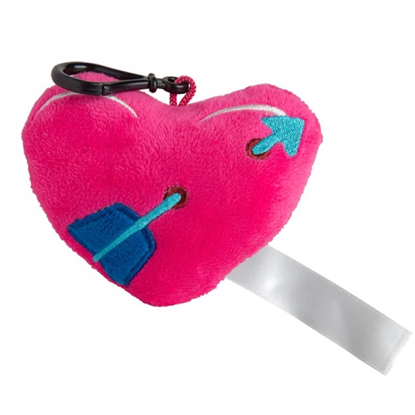 Plush Heart Keychain