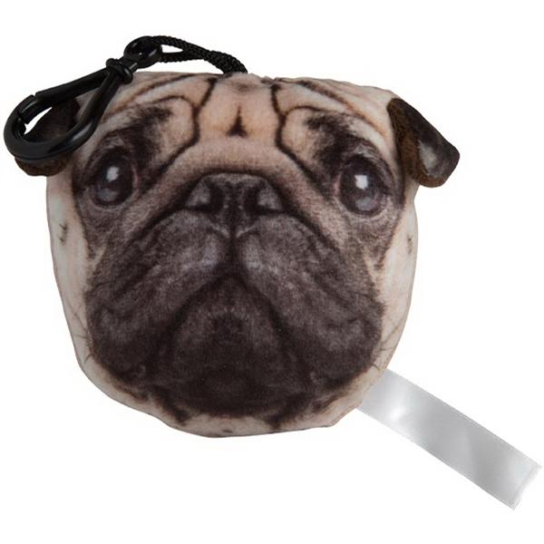 Plush Pug Keychain