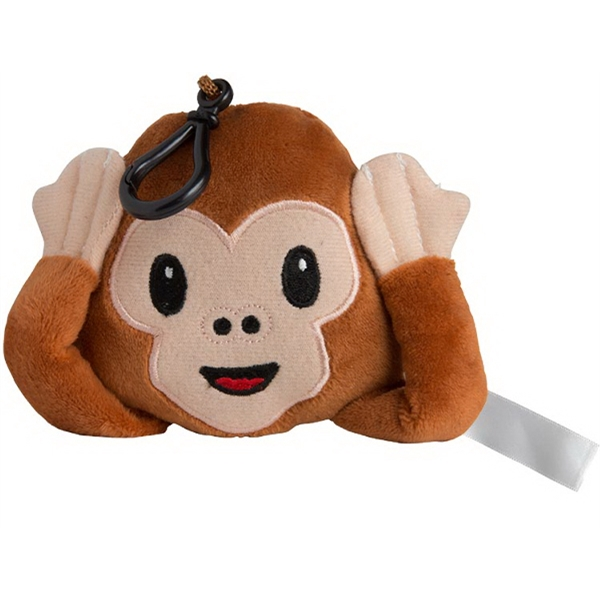 Plush Monkey Keychain