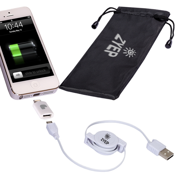 Retractable USB Cable & MFi Lightning Adapter