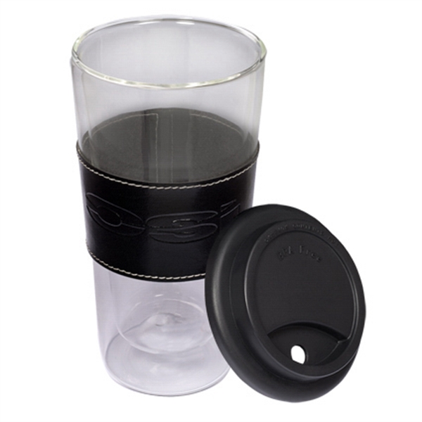 Mighty Glass Tumbler with Leather Sleeve