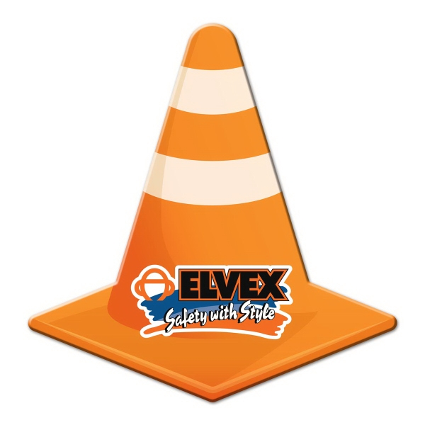 Road Cone Shaped Full Color Magnet