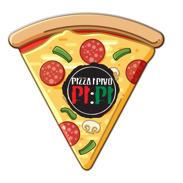 Pizza Slice Shaped Full Color Magnet