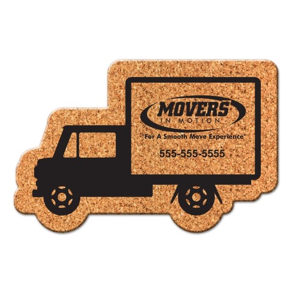 Truck Shaped Cork Coaster