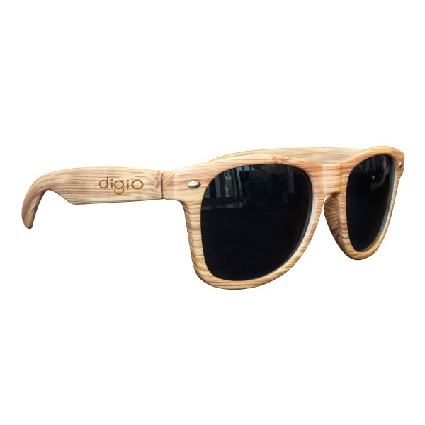 Light Wood Tone Miami Sunglasses