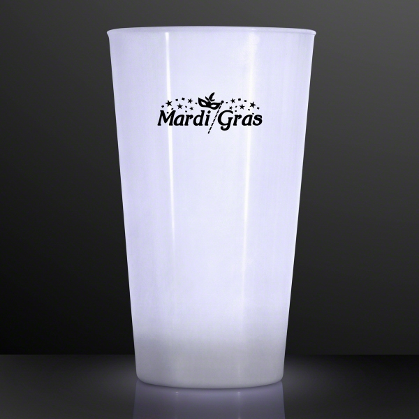 16 Oz. White LED Glow Cup