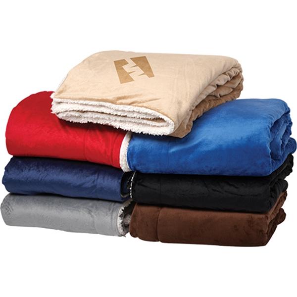 Oversize Micro-mink Sherpa Blanket