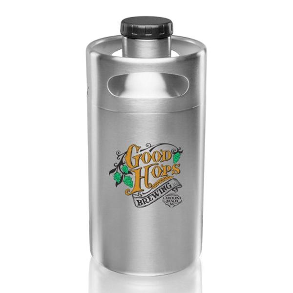 2 Liter Stainless Steel Mini Keg Growler