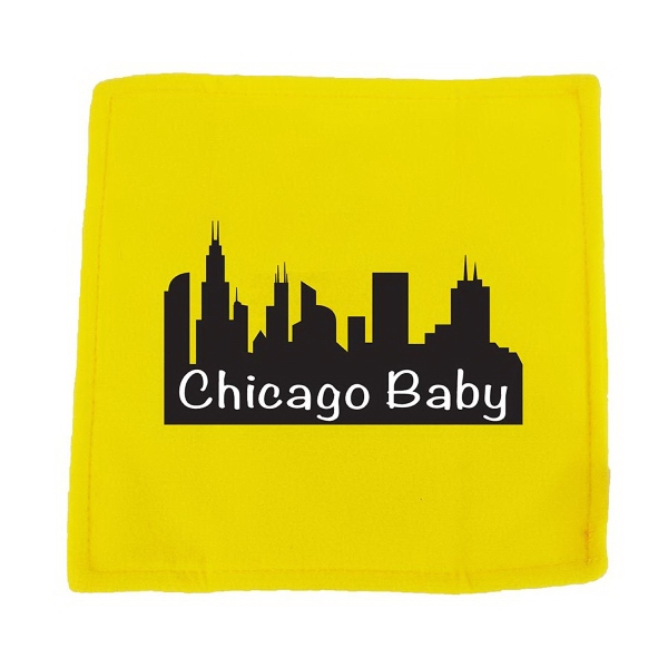 "6"" Yellow Baby paper with full color imprint"