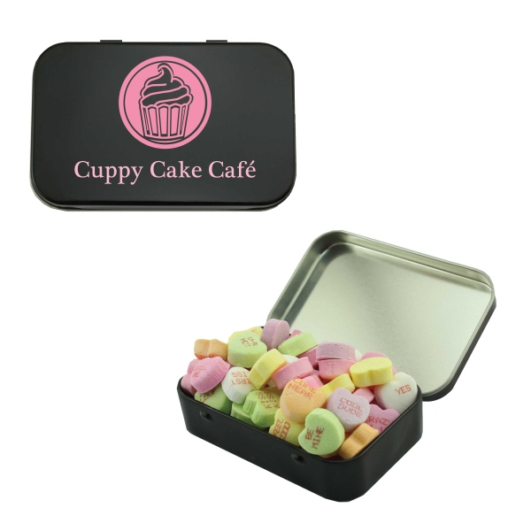 Personalized Candy Tin with Hearts
