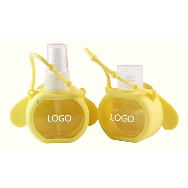 Portable Silicone Hand Cartoon Bottle