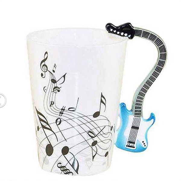 Musical Ceramic Coffee Mug with Guitar Shape Handle