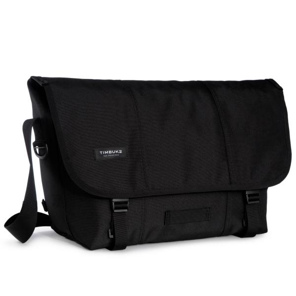 Classic Messenger Bag - Large Jet Black
