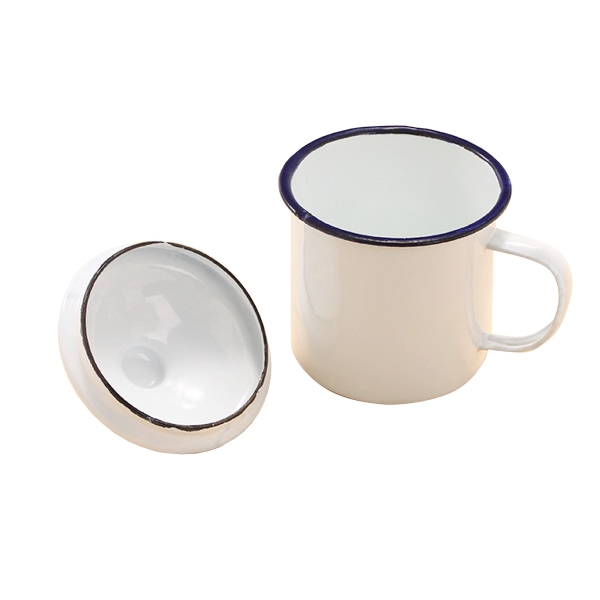 Enamel Mug with A Bowl Cover