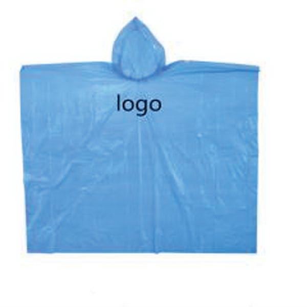 Disposable Hooded Rain Poncho
