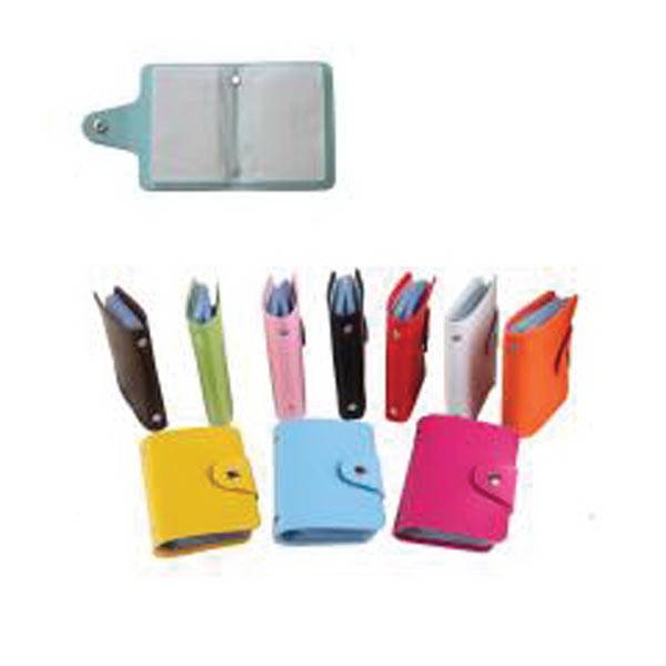PU Leather Business Credit Card Holder With 24 Card Slots
