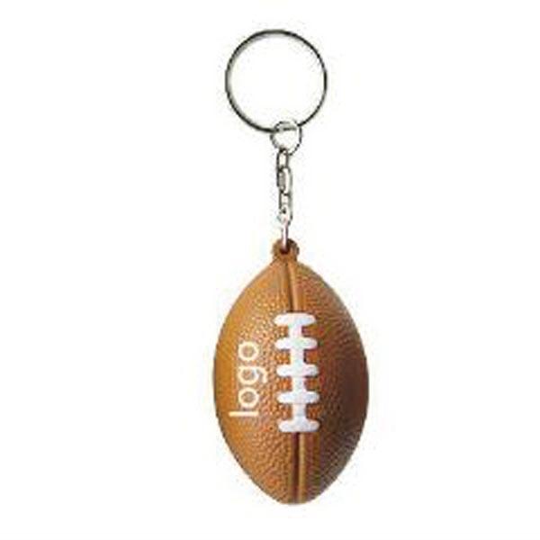 Football Shaped Keychain