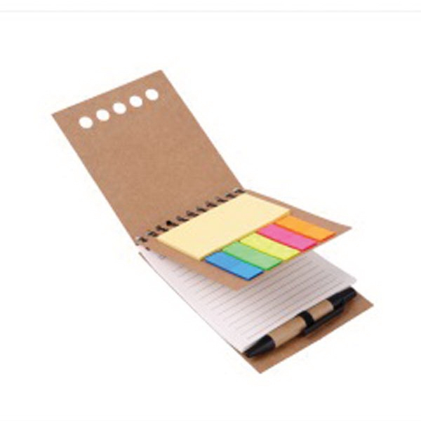 Winding Coiling Journal Notebook with Pen and Stickers