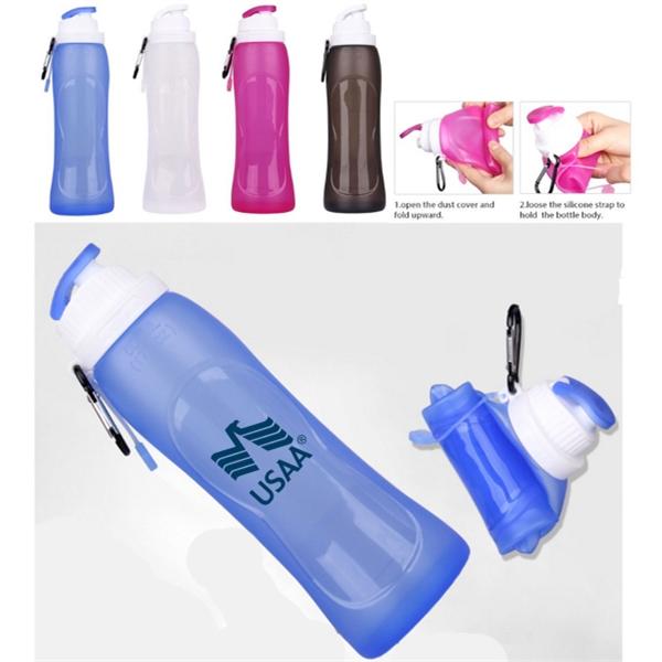 Magic Flat Fold Water Bottle   - 17 Oz